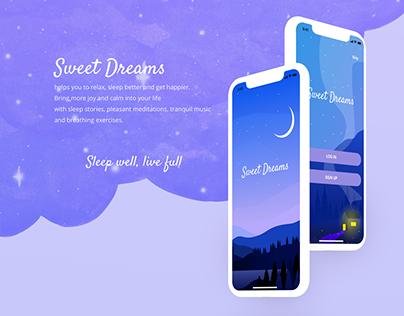 Sweet Dreams Self-Care App