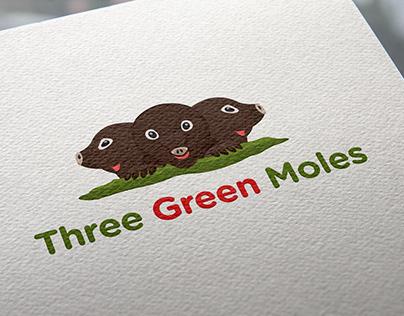 three green moles