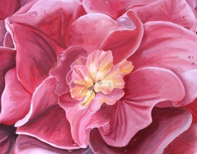 Floral Acrylic Paintings