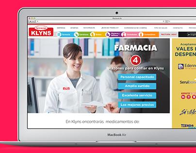 Farmacias Klyns WEBSITE
