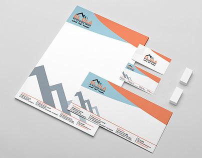 هوية وتصميمات تجارية لشركة العلا للصلب