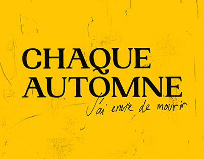 Chaque Automne - Theatrical Play Visual Identity