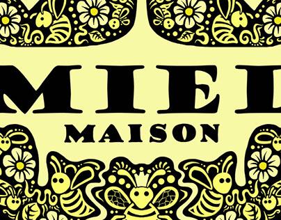 Miel Maison - Honey Jar label