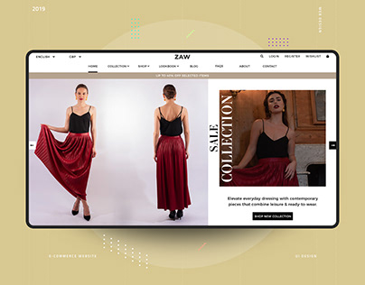 ZAW Fashion Homepage Design