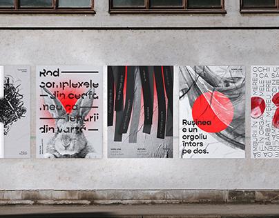 Typographic posters - Nora Iuga