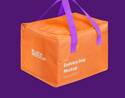 Delivery bag mockup