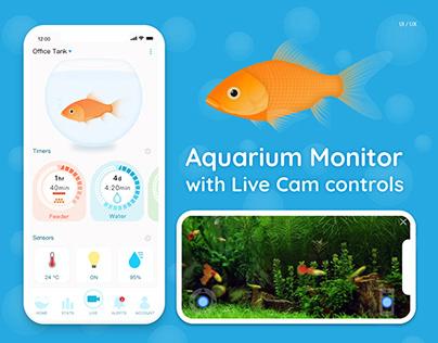 Aquarium Monitor with Live Cam UI/UX iOS app