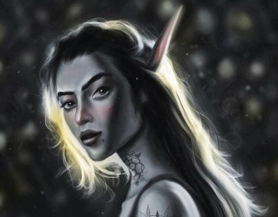 Tattooed Night Elf