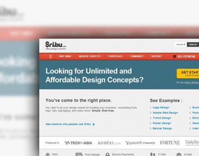 Sribu.com Website