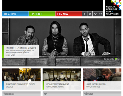 Web Mockups to Launch: Newark Office of Film + TV