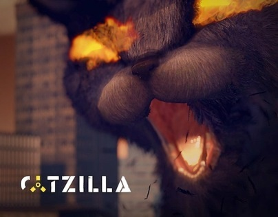 Catzilla (real-time animation)