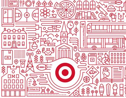 Target Express Storefront Illustrations