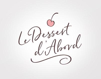 Design de logo - Le Dessert d'Abord