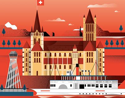 Illustrated city poster V.02