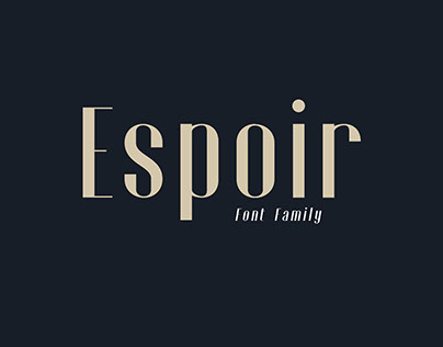 Espoir - Font Family (Free Download)