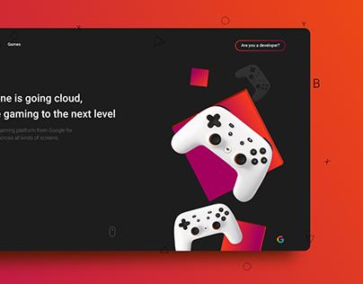 Stadia Website Concept