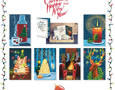 set of postcards