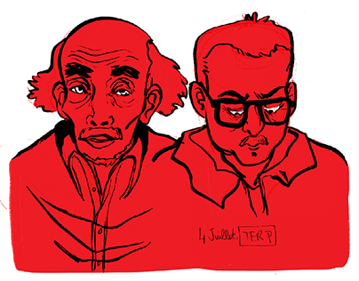 Sketched people / drawing seance in transports