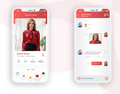Find Sexy Ladies for business App design