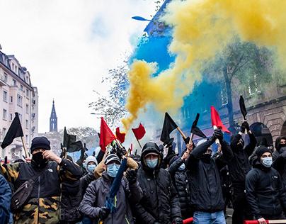 """Loi """"sécurité globale"""", manifestation de Strasbourg"""