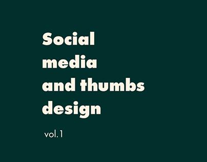 Social media and thumbs design vol. 1