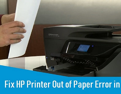 HP Printer Out of Paper Error- How to Fix?