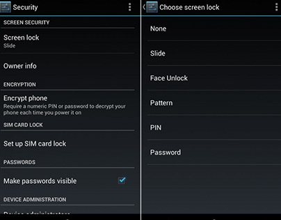 Changing Lock Screen Password for Your Android Device