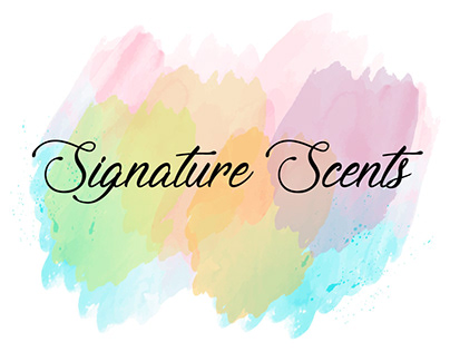 PASTEL WATERCOLOR SIGNATURE LOGO COMPLETED PROJECT