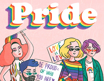 Happy pride illustration