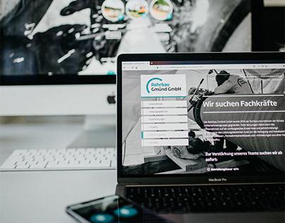 Rohrbau Gmünd GmbH // Gestaltung Print und Web
