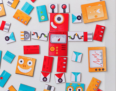 Magnetic constructor robots
