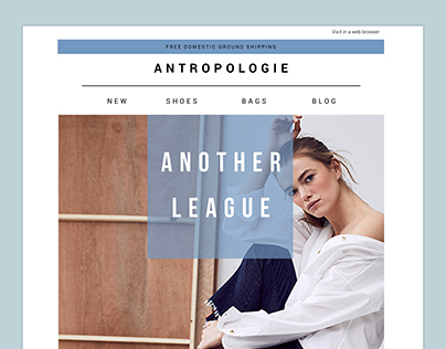 Minimalistic Email Newsletter | Antropologie