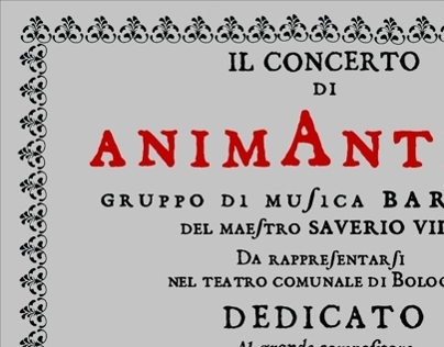 Animantica - Poster for a baroque music video