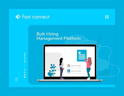 Bulk hiring management system - Web application UX & UI