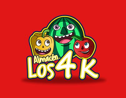 """Logo Almacén """"Los 4 K"""""""