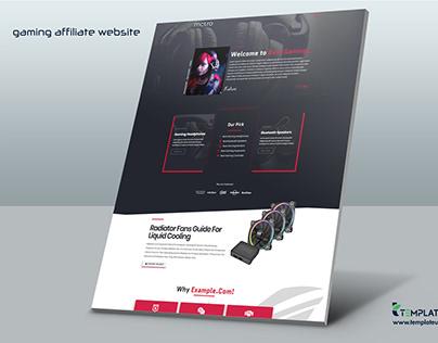 Gaming Affiliate Website