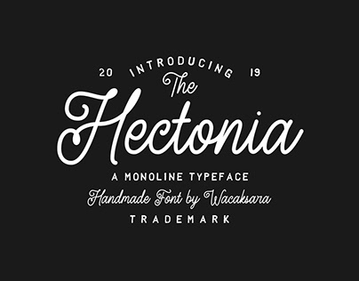 FREE FONT - Hectonia Monoline Script Font