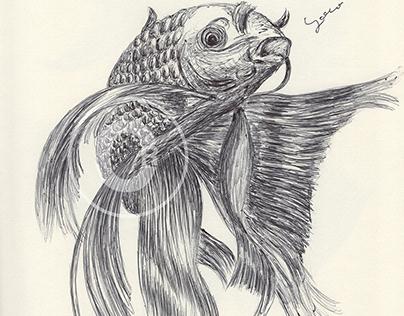 BALLPEN KOI FISH