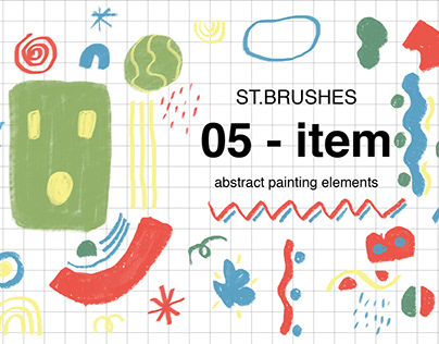 Brushes for photoshop | abstract painting elements