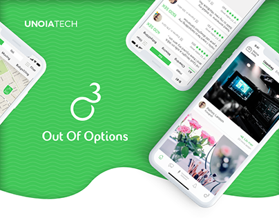 Out Of Options: On-Demand Mobile App UX/UI Case Study