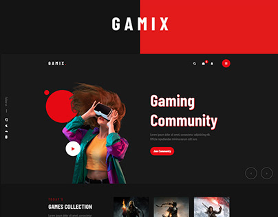 Gamix - eSports & Gaming HTML5 Template
