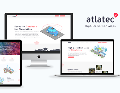Atlatec Website Re-designing with Animations