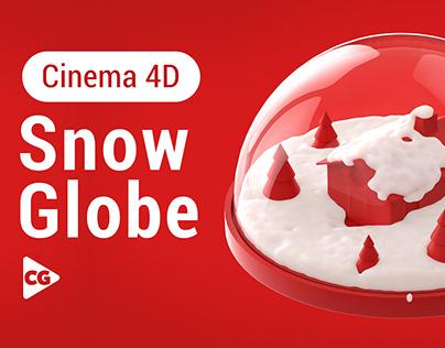 Dynamic Snow Globe - Cinema 4D + Realflow Tutorial