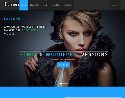 Fallone - Free Awesome HTML5 Bootstrap Website Theme