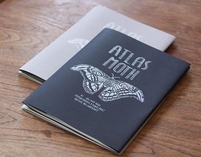 Atlas Moth Silkscreen/color Zine