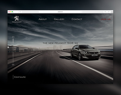 Peugeot 508 SW Landing Page Redesign