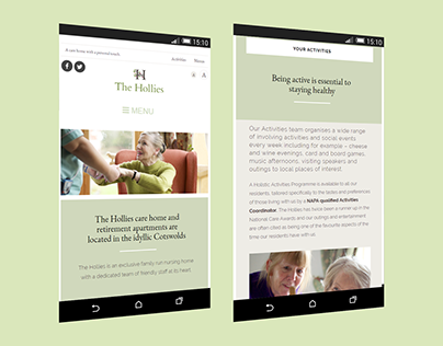 The Hollies care home website