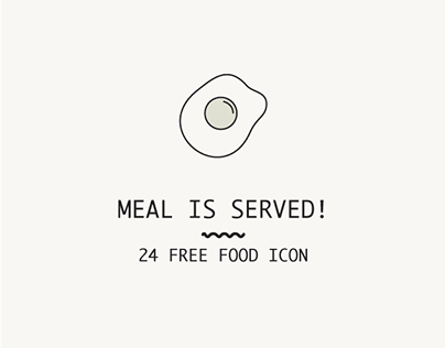 Meal is served (Free Food Icon)