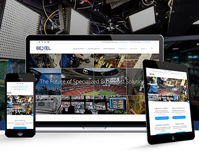 Bexel Global Broadcast Solutions   Website Design