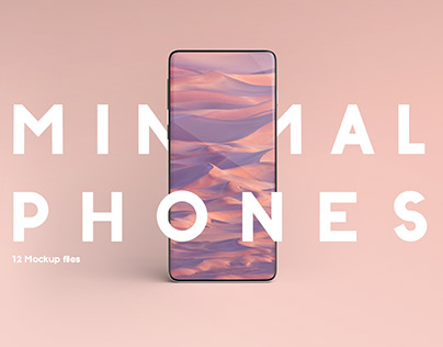 Minimal phones mockup